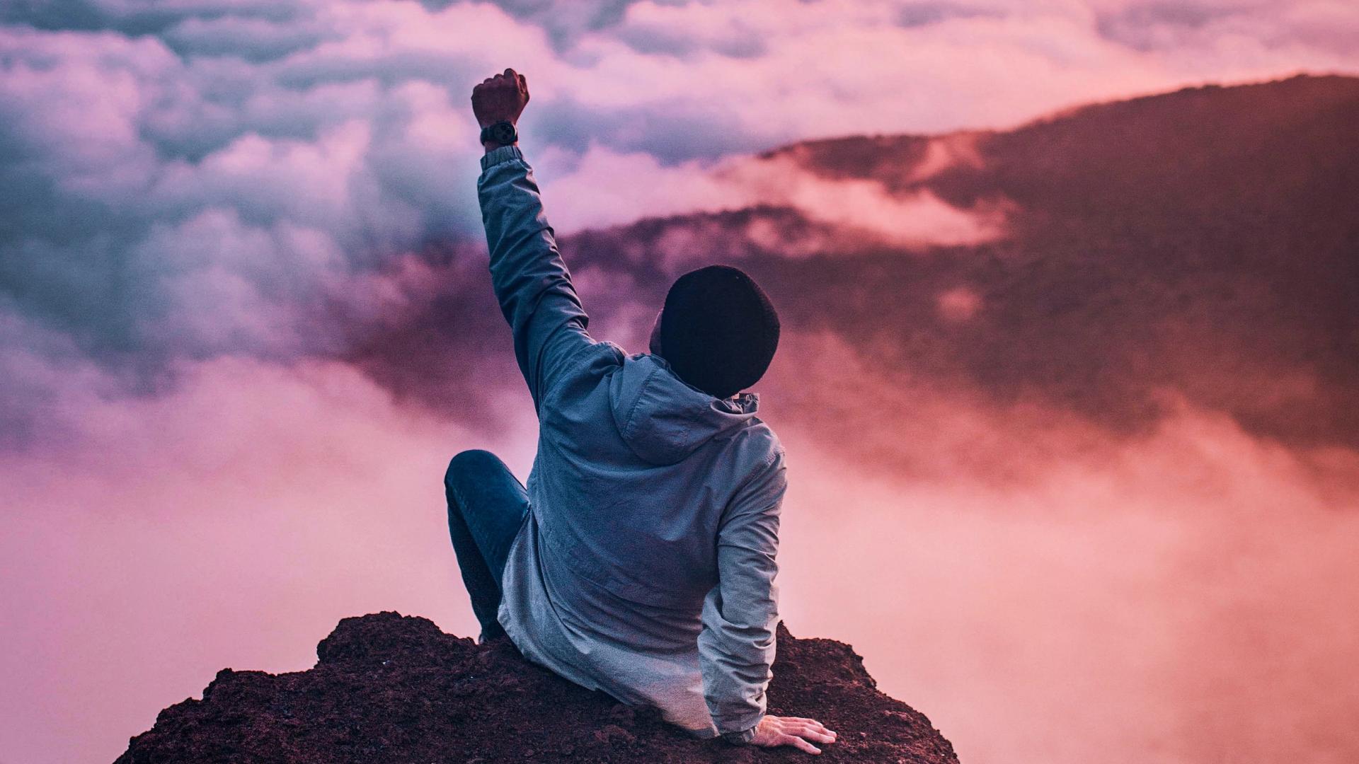 Auf dem Hügel des Erfolgs